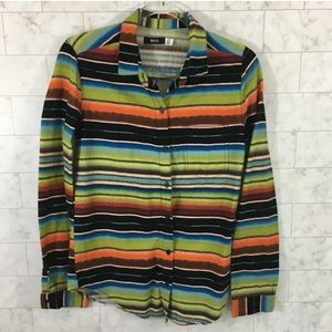 BDG Shirt Western Stripe Multi Color BC16☮️